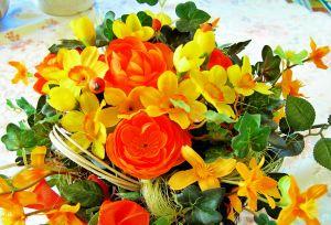 bukiet z różnych kwiatów